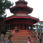 The only round temple at Hanuman Dhoka