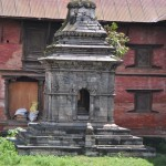 One of many hindu shrines at Pashupatinath