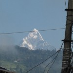 """Machapucharé or """"Fishtail"""" is about 6997 m high"""