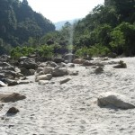 A beach at the Kali Gandaki
