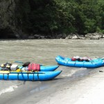 Raft and the katamaran for our supplies