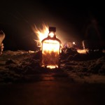 Whiskey and campfire. A good combination