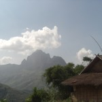 Lime stone mountains north of Vang Vieng
