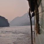 Dusk over the Mekong on our way down to Pak Beng