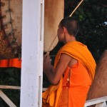Drumming Monk in Udomxai
