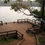 Swimming platform Yeak Laom lake