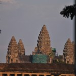 The three towers of Angkor Wat