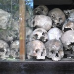 Skulls of the vicitims of the Khmer Rouge regime