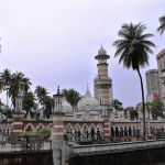 Mosque in the middle of the city