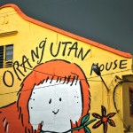 The Orang Utan House in front of a monsoon storm