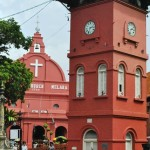 Old clocktower and dutch curch, Melacca