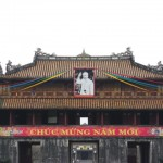 Uncle Ho's picture at the forbidden city
