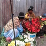 Natives selling flowers