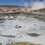 Boiling mud at 5000 m
