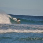 Surfer at the first spot