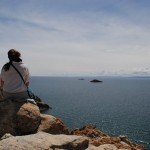 Overlooking Lake Titicaca in the direction of Peru