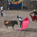 Bull fighting in Chivay