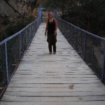 Wobbly Bridge over the Canyon River