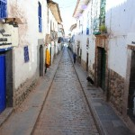 Cobblestone alleyway in Cuzco