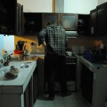 Kitchen action in Lima